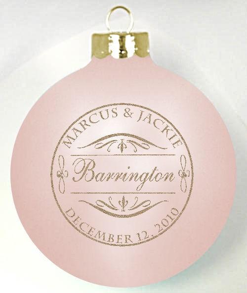 custom glass wedding favor ornament program