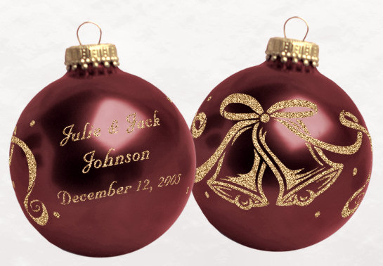 custom wedding favors christmas ornaments
