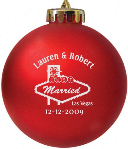 Wedding Favors Christmas Ornaments Custom Printed