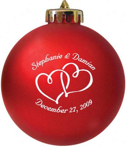 wedding favor acrylic imprinted christmas ornaments