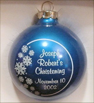 Christmas Ornament Wedding Favor